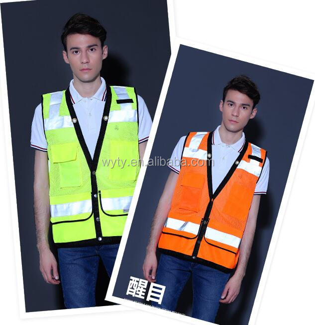 high visibility mesh lime yellow safety vest