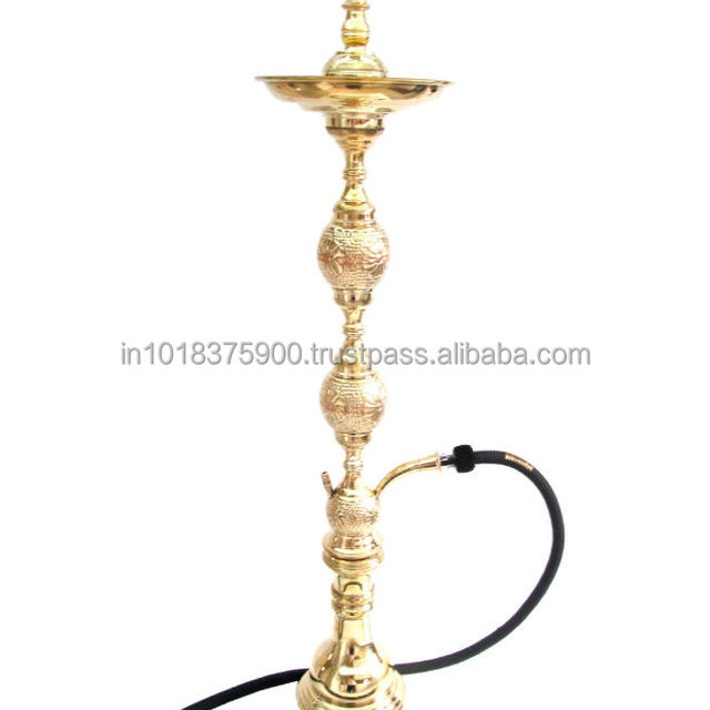 , antique brass hookahs & Glass hookha & silver hookah and clay bowl