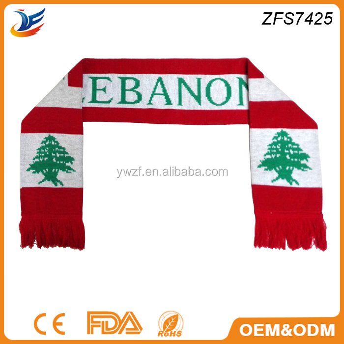 waving scarf style promotional gift Oman National Day scarf
