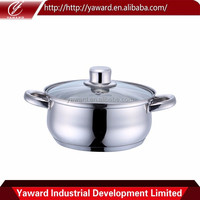 Best Sale Stainless Steel Deep Casserole With Glass Stainless Steel Insulated Casseroles Hot Pot