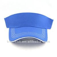 Diamond mesh fabric sun visor sports cap