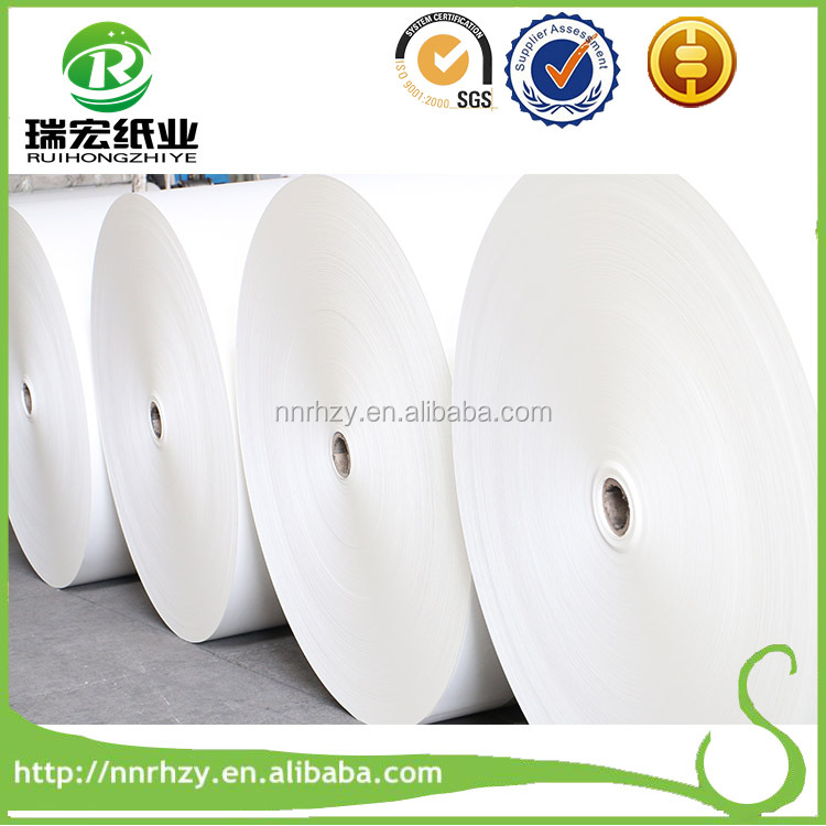 Customized size high stiffness pe coated paper food packing paper roll