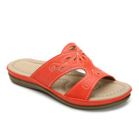 Women outdoor casual shoes orange flat sandals for ladies pictures