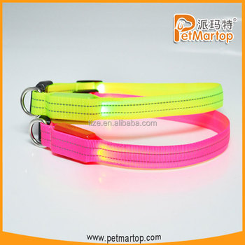 Best selling reflective collar TZ-PET2110F led collars for dogs