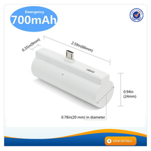 AWC951 New Design 700mAh 1000mAh Mini 5V1A Ouput Rohs Power Bank Rechargeable Portable Power Bank for iphone Charger