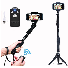 Original Brand Yunteng 1288 Selfie Sticks Handheld Monopod + Phone Holder + Bluetooth Shutter for iPhone Camera