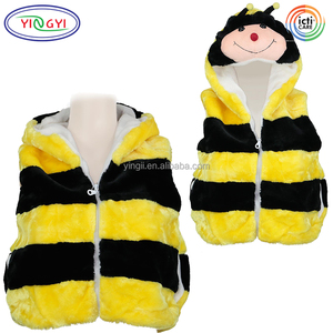 F377 Kids Animal Vest Fashion Hoody Costume Mascot Bumble Bee Youth Small Wild Animal Costumes