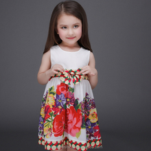 MS69365C 3 to 13 years old kids 2016 new fashion spring girls dress