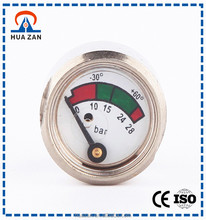 0-28Bar High quality chrome-plated 1 inch 23 mm diaphragm pressure gauge for fire extinguisher