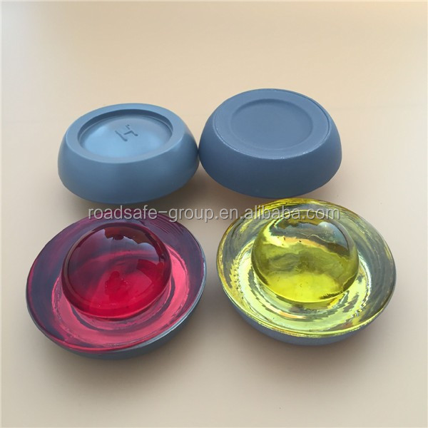 High resistance colored glass reflector cat eye glass road studs