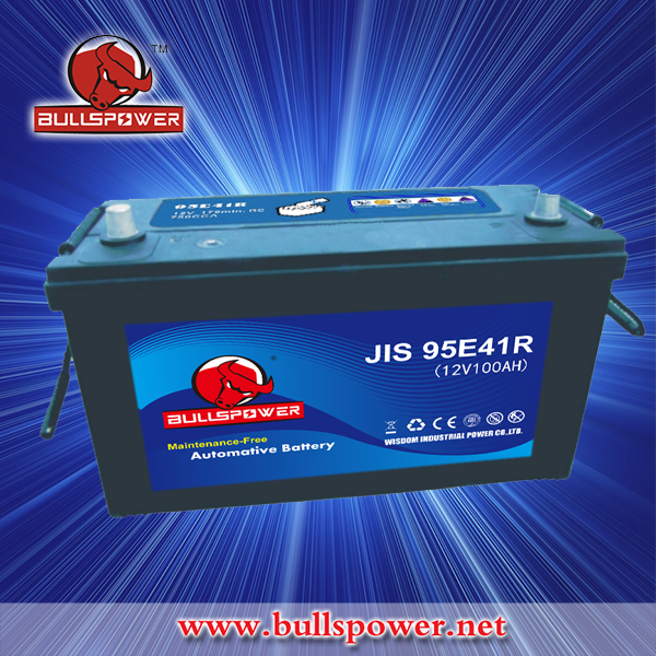 Hot JIS MF auto Car Battery 12v 100ah 95E41R jump start car battery pack & charges