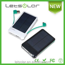 4000mah dual port 5V 1A Rechargeable battery charger portable solar mobile charger for all mobile phone