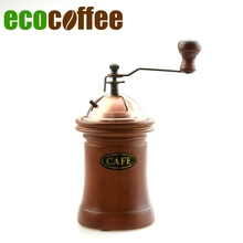 manual stainless steel core bamboo body coffee mill coffee grinder