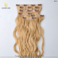 2015 Hot New Products Factory Wholesale PU/skin weft clip in human hair extensions