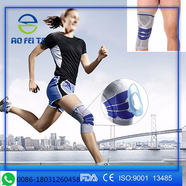 Knitted Knee Pad Elastic Knee Brace Compression Sleeve Protector Sports Leg Warmer Guard Tennis Running Gym