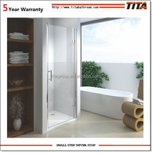 Sliding tempered shower glass door