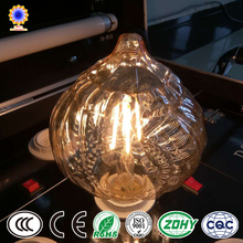 2018 new products curved filament led bulb lantern shaped led filament bulbs