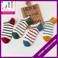 High Quality Wholesale Stripe Cheap Custom Logo Bulk Thin 100 Cotton Men Sock