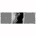 Black and White Artistic Stripes Photo Canvas Prints Nude Woman Picture Canvas Wall Art for Bedroom Decoration
