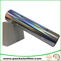 factory logo printed metallized polyester film for flexible air duct