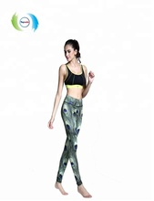 2018 new fashion custom polyester spandex colorful yoga pants