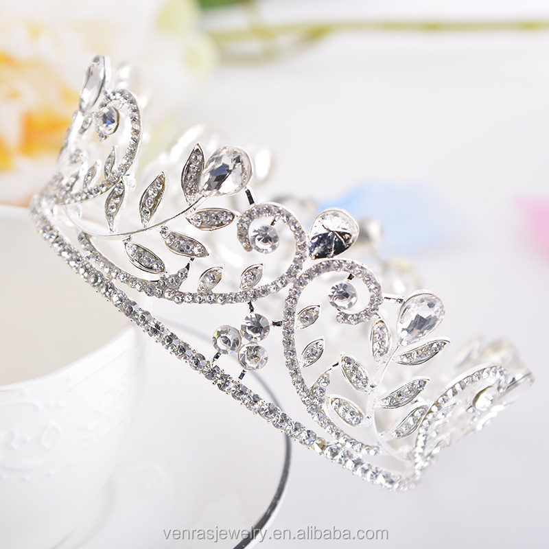Wholesale silver cheap beauty pageant tiara crowns