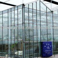 Large Multi Span Glass Greenhouse Commercial