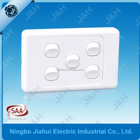 AS310 Good Quality new design Pure Copper electrical 5 gang 2 way light wall switch