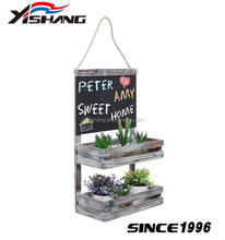 Plant Stand 2 Tier Wooden Platform Garden Outdoor Flower Shelf