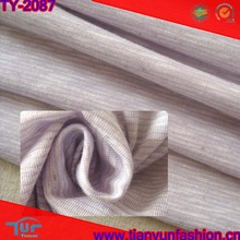 fashional specialized striped purple bright color polyester cotton knitted fabric