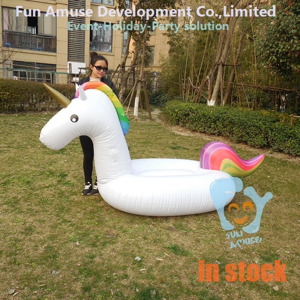 2017 hot sale inflatable swimming float unicorn in stock