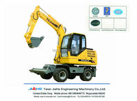 7 tons capacity hydraulic wheel excavator for sale 4 wheel drived