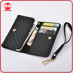 Manufacturer Multifunction PU leather Wristlet Clutch Mobile Phone Cover, for Iphone 5 Case Wallet Purse Wholesale OEM