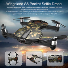 Original Wingsland S6 drone camera Updated Quadcopter With 4K HD Camera follow me Pocket drone foldable selfie drone