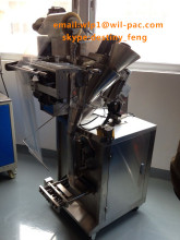 Automatic pouch bag making machine for herbal green washing powder