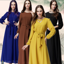 T-D053 Simple Muslim Loose Maxi Women Dresses