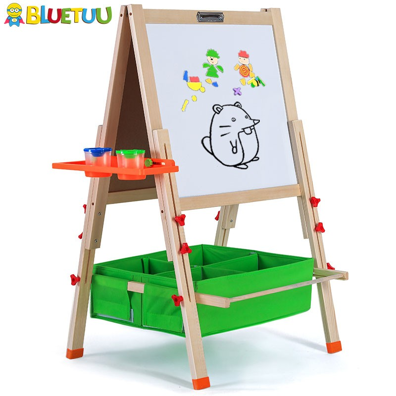 Dry erase board with wood easel stand in Christmas gift art center