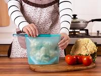 Portable Silicone food storage bags vacuum food bag food saver