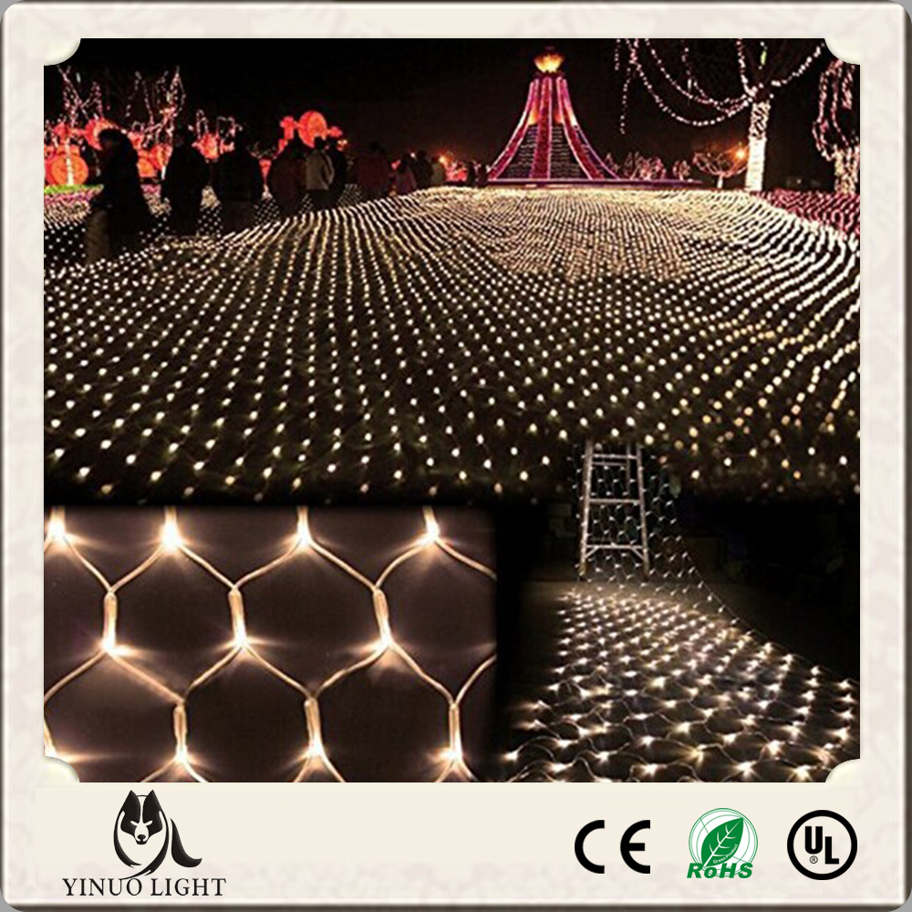 led net lights 3M*2M 204Leds Christmas fairy string lights outdoor waterproof fishing net for Garden Holiday festival decoration