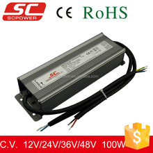 0-10V,1-10V dimmalbe constant voltage 100w led driver 36v