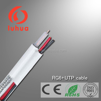 coaxial cable RG6 + UTP cable( CATV CCTV MATV multimedia Ethernet satellite system) with CE RoHS approved