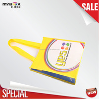 Printed durable recyclable all purpose small and convenient making machine yellow fabric trolley bag pp non woven bag