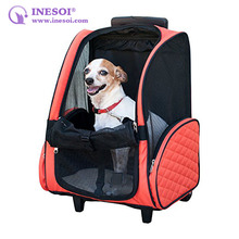 Trolley Pet Carrier Backpack Grils' Backpack Pet Carrier With Wheels