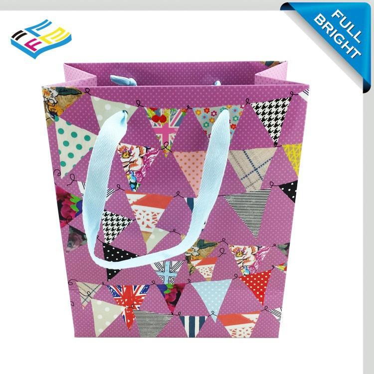 Trade Assurance Supplier Custom colorful art paper package gift bag / gift shopping bag