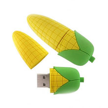 Corn Memory Sticks with and without lid, PVC corn shaped usbs, Custom made corn stick pens key