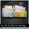 refill ink cartridge for hp 72 with chips for hp hp Designjet T610 T790 T795 plotter