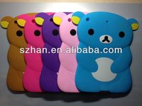 New Soft silicone cute bear cover case For ipad 5 ipad air