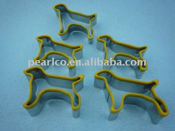 Customized design dog bone Eco-Friendly stainless steel cookie cutter$silicone pastry cake decoration