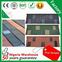 Heat resistant shingles roofing materials stone coated roofing sheets in india