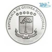 China wholesale die struck iron imitation silver plating customized equatoria challenge coins